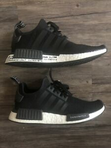 adidas-Originals-Youth-Running-NMD-R1-Black-White-Running-Shoes-Size-6-CG6245