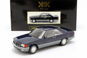 Mercedes-Benz-560-SEC-C126-Metallic-Blue-1985-1-18-KK-Scale-180333