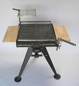 hesani 4f03 holzkohlegrill grill mit 2x edelstahl grillrost holzkohle dreibein ebay. Black Bedroom Furniture Sets. Home Design Ideas