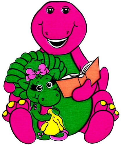 """5/""""-8.5/"""" Barney the dinosaur baby bop wall safe sticker border cut out character"""
