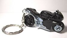 2013 Hot Wheels Black DUCATI 1098R Motorcycle Custom Key Chain Ring!