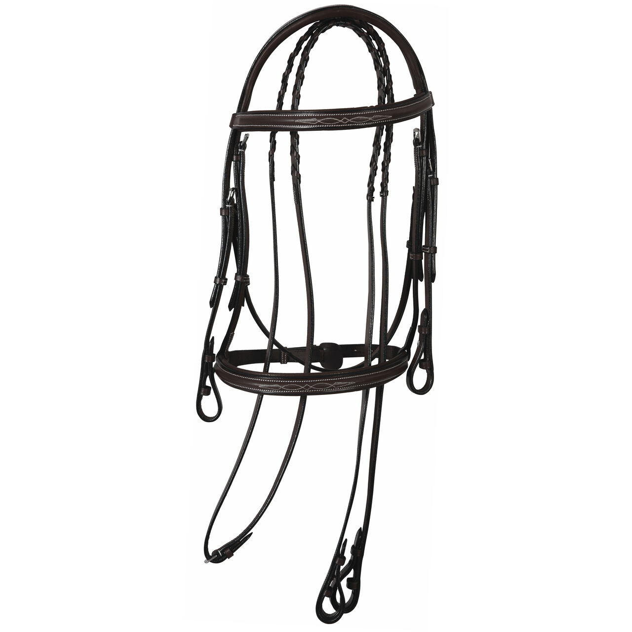HDR Henri de Rivel  PRO Mono Crown Fancy Pad Bridle -Brown- Cob, Horse & Oversize  preferential