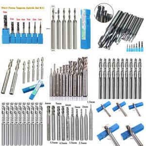 10Pcs 6 Types 0.1-3.0mmm Forets Carbure De Tungstène Drill Bits PCB CNC+Box