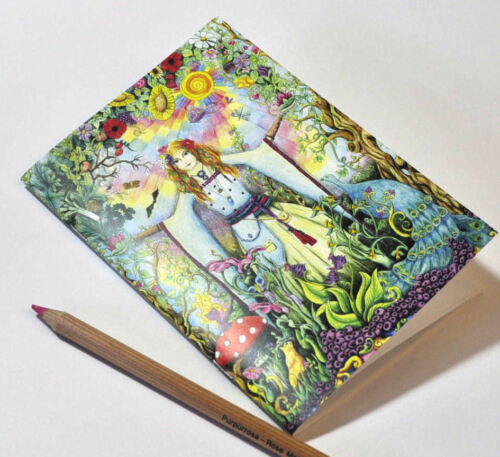 Set of two Goddess Sketchbooks A5 blank notebook Pagan Medieval drawing