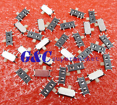 10PCS Slide Power Off/On Panel PCB MINI SMD Switch SPM