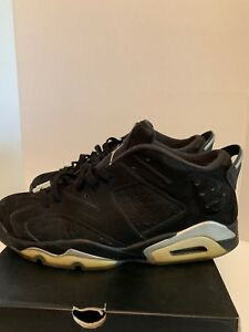 058f911bda7c 2015 NIKE AIR JORDAN 6 VI LOW CHROME 304401-003 Size 12 BLACK ...