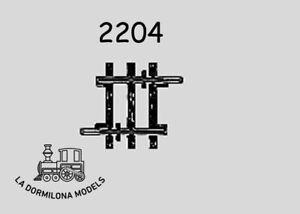 MARKLIN-2204-K-Gleis-Gerades-Gleis-Straight-Track-Length-1-8-22-5-mm-c69