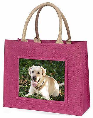 Gelb Labrador Hund Große Rosa Einkaufstasche Weihnachten Geschenkidee, AD-L48BLP