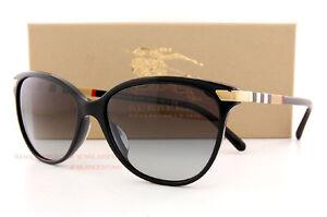 53bfbbcfbb72 Brand New Burberry Sunglasses BE 4216 3001 8G Black Grey Gradient ...