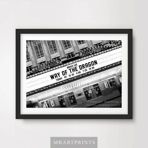 BRUCE-LEE-WAY-OF-THE-DRAGON-Art-Print-Poster-Cinema-Sign-Marquee-Movie-Film
