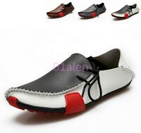 Mens Strappy Loafer Leisure Shoes Faux Leather Sport Slip On Driving Boats Drive