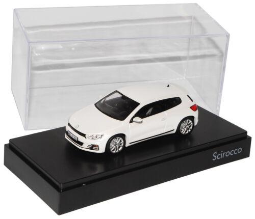 Blanco VW Volkswagen Scirocco III Coupe de 2008 cirugía estética modelo 2014 1//43 no....