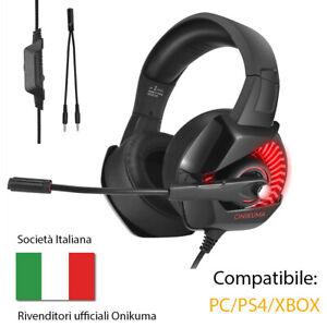 ONIKUMA Cuffie Gaming 7,1 Audio Surround Cuffie per Computer PS4...