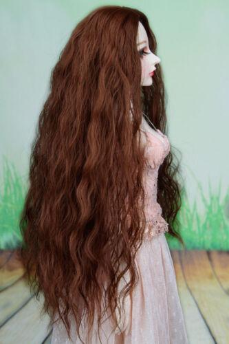 BJD Doll Hair Brown Long Curly Wavy Wig 8-9 1//3 SD DZ DOD LUTS