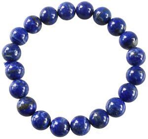 Bracelet Perles Rondes Lapis Lazuli - 8 mm