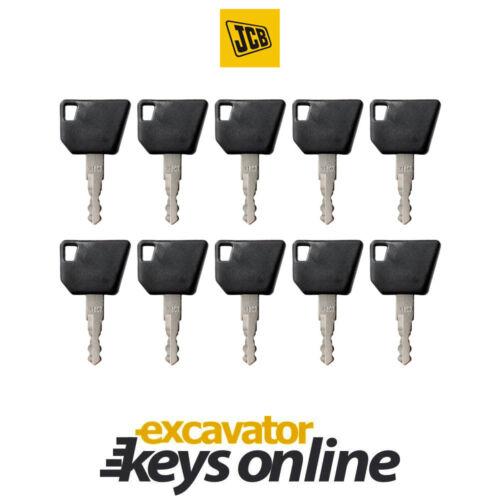 Set of 10 Hamm,14607 Master Key JCB Bomag Excavator Key Wacker Neuson