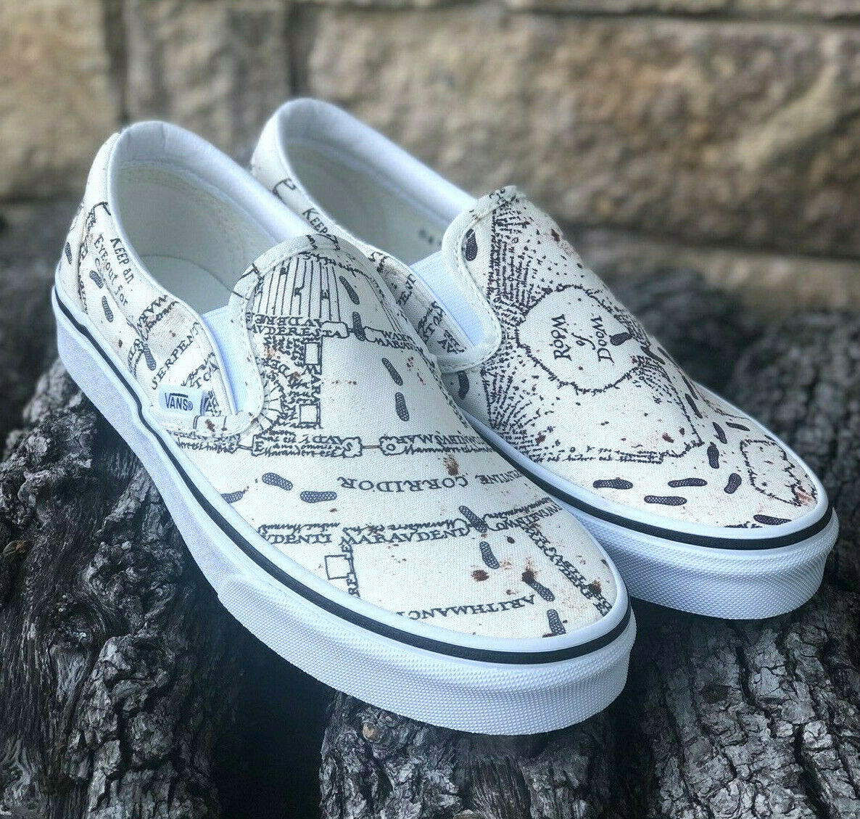 NOUVEAU  Vans x Harry Potter Classic À Enfiler  mauraders Carte  Pour Homme Taille 8