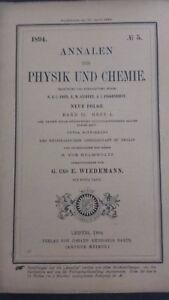 Rivista Beiblatter N° 5 Zu Den Annalen Der Physik Und Chemie 1894 Lipsia Verlag