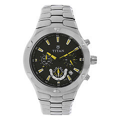 Titan BLACK Dial Analog with Date2572SM02
