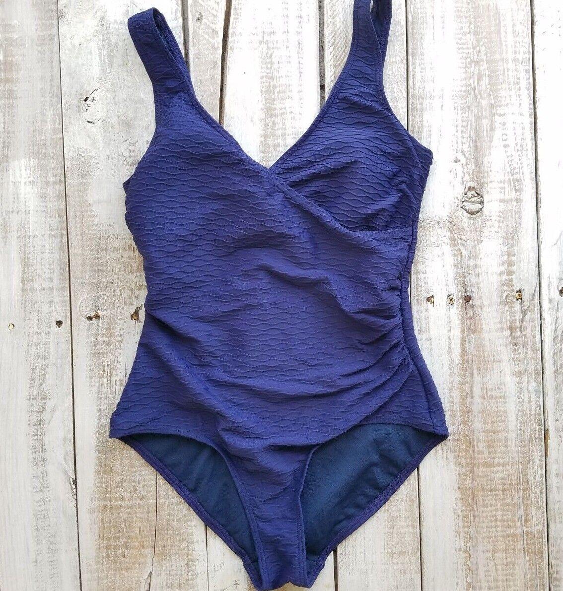 Bond-eye Australia Swimsuit Women size 10 cup on epiece Multi fit solid bluee