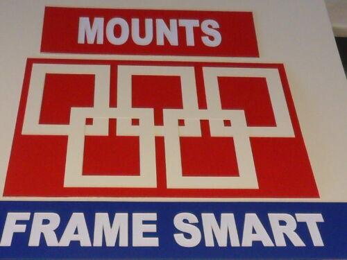 20 x Crème/Ivoire photo/image Mounts 7x5 pour 5x3 prix de clair STOCK
