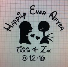 Jack and Sally customized Happily Ever After vinyl decal