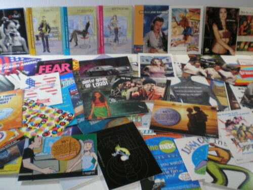 150 Assorted, All Different 1990s & 2000s Rack Advertising Postcards! Set B