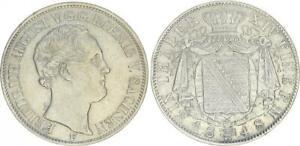 Sachsen 1 Taler 1848 F König Friedrich August ss-vz 54271