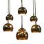 Riesige-Chrom-Kugel-Kaskaden-Leuchte-7fach-Haenge-Lampe-Vintage-Pendant-70er-VTG Indexbild 1
