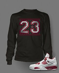 66122868d044ff 23 T shirt to Match Alternate 89 Jordan 4 Shoe Men Long Sleeve Tee ...