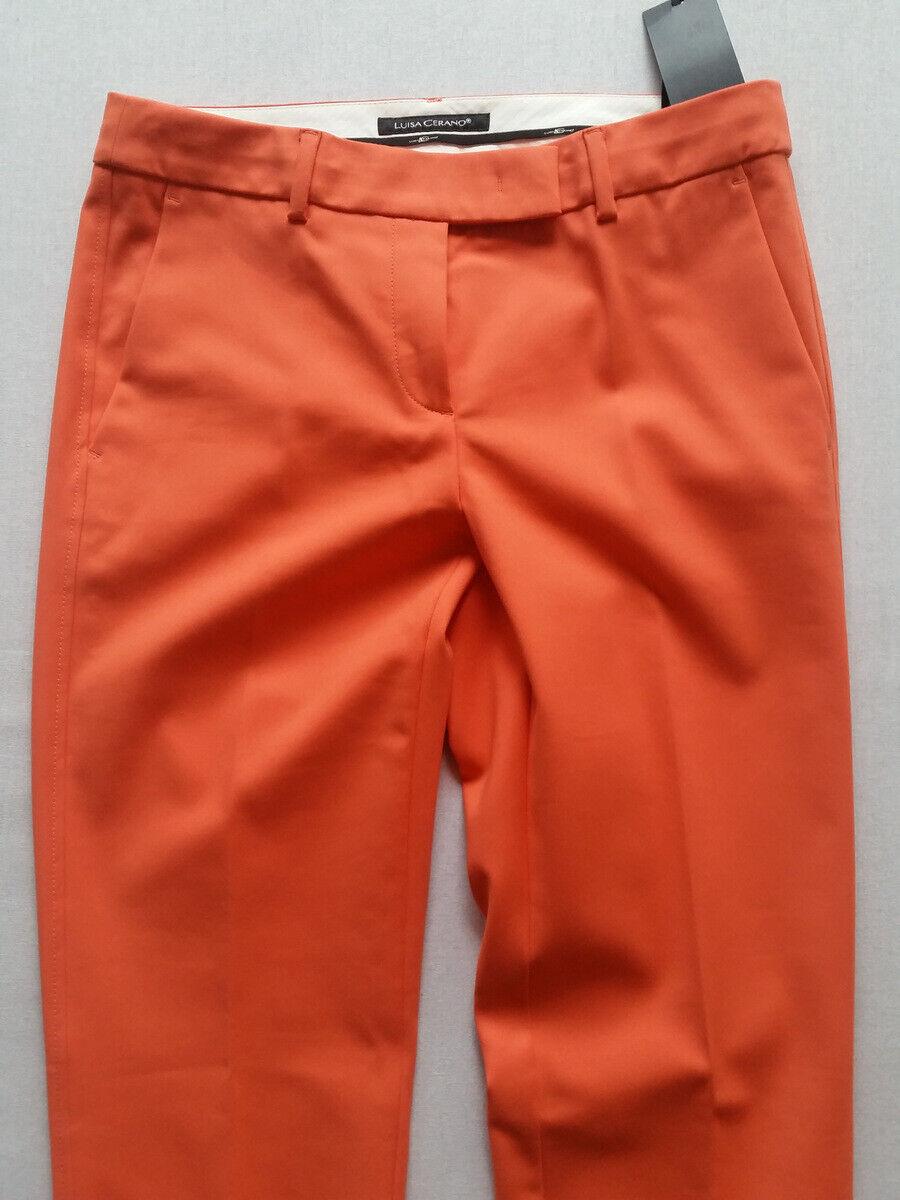 LUISA CERANO Hose Orange elastisch Gr.40--UK14 Euro 189 90NEU 90NEU 90NEU 00032f