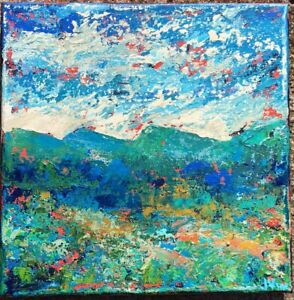 GREEN-MTN-MEADOW-Original-Abstract-Landscape-Knife-Painting-TEXTURE-10x10-canvas