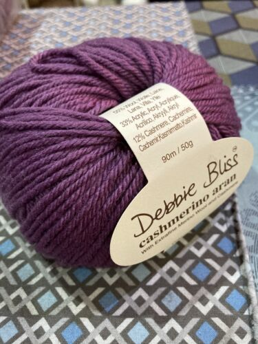 Debbie Bliss Cashmerino Aran yarn in  shade #42 Purple