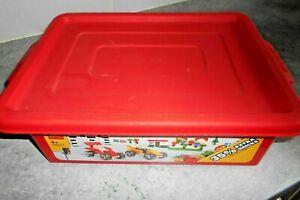 IngéNieux Coffret Lego - [ Rouge ] - Boite De Rangement - 40 X 27 X 13 Cm - Vintage 1987