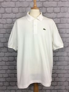 LACOSTE-MENS-UK-XXXL-L-WHITE-POLO-SHIRT-SHORT-SLEEVES-CASUAL-DESIGNER-RRP-80
