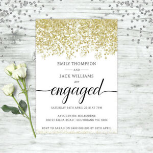 ENGAGEMENT-INVITATION-GOLD-GLITTER-FLORAL-WEDDING-INVITE-PARTY-SUPPLIES-INVITE
