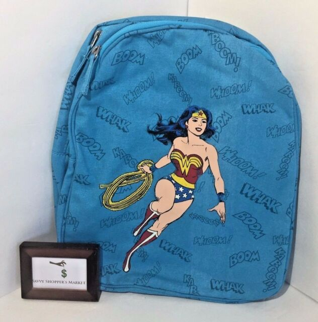 Pottery Barn Wonder Woman Cape Backpack Preschool Vintage