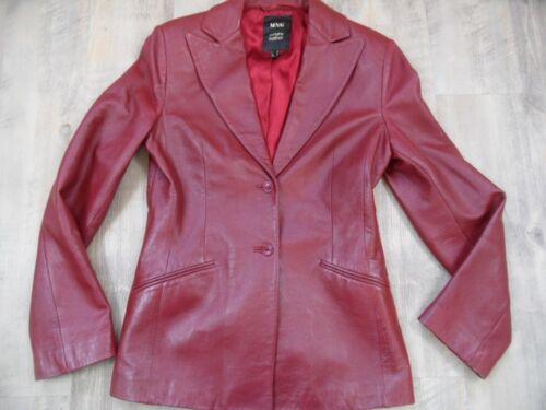 cuir Rouge souple Mango Blazer en Sth218 Gr 38 Top HFxZxf