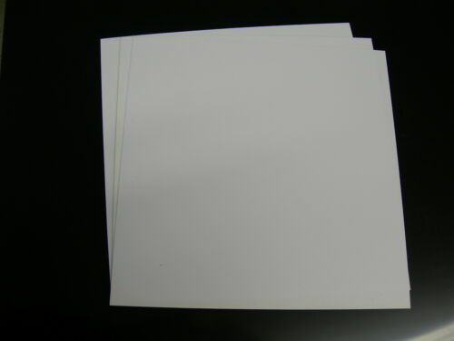 "WHITE POLYSTYRENE PLASTIC SHEET .030/"" x 5-5//8/"" X 12/"" LIGHT DIFFUSING LOT OF 5"