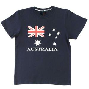 Adult-T-Shirt-Australian-Australia-Day-Souvenir-100-Cotton-Flag-Navy