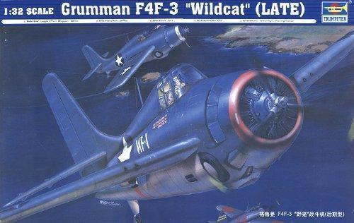 Trumpeter 1:32 F4F-3 Wildcat Fighter Late Plastic Model Kit 2225 TSM2225
