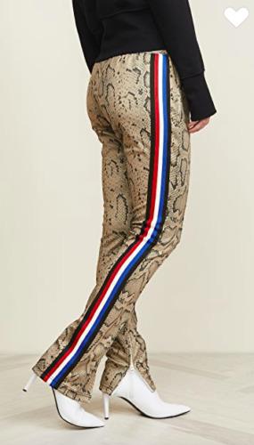 Pam & Gela - Snake Cigarette Side Stripe Pant in P