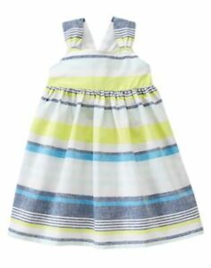 nwt Gymboree girls blue safari dress size 12-18 mos