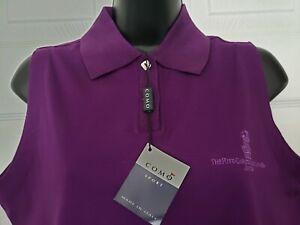 Como Ritz Carlton Jupiter Women's Purple Sleeveless Top Shirt Sz M Italy NWT !!