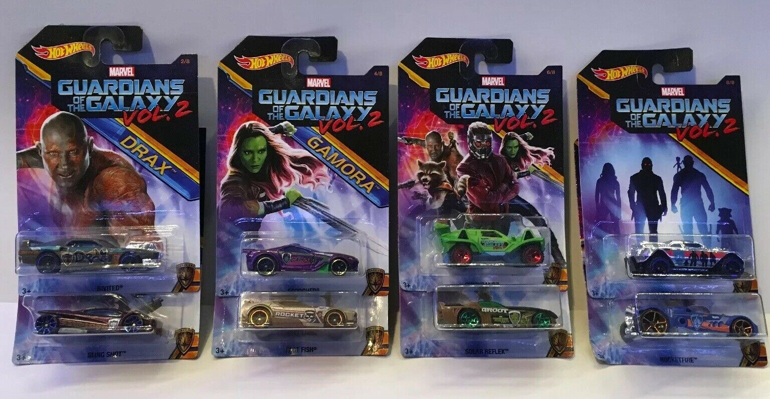 HOTWHEELS GUARDIANS OF THE GALAXY COLLECTION SET. COLLECTORS MODELS.
