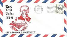 United States  USS Theodore Roosevelt CVN-71 Newport News VA. 1981 Decatur Cover