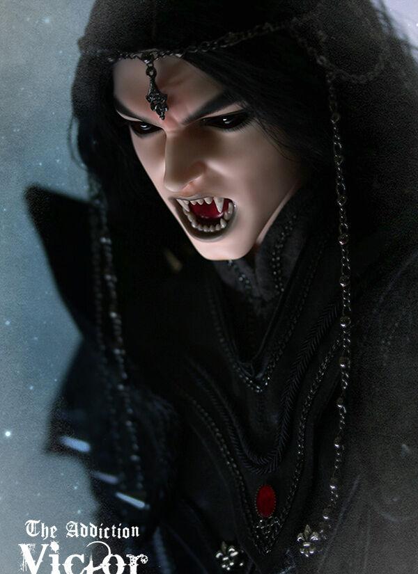 BJD 1 3 Muñeca Vampiro Macho V Cuerpo V (ID72), ojos Gratis + Cara Maquillaje