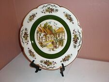 "Ascot Service Decorative Wall Plate""Village/Church Steeple"" Wood & Sons England"