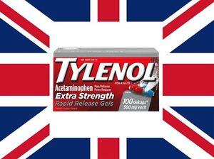 Tylenol-Extra-Strength-500-mg-Rapid-Release-Gelcaps-100ct-FREE-WORLDWIDE-SHIPP