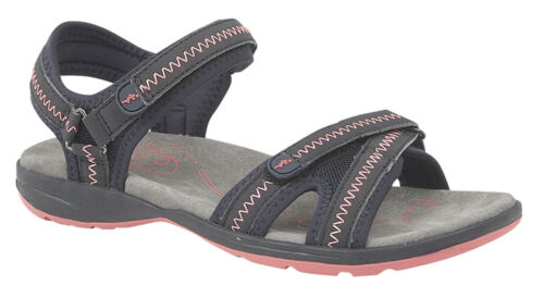 Womens Casual Sandals Summer Flexi Sole Sandal Twin Touch Fasten Mules